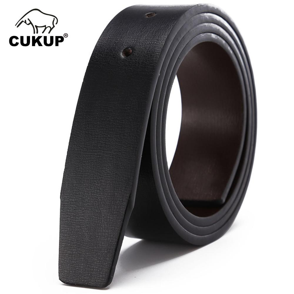 CUKUP Men's Grain Quality 2nd Layer Both Sides Use Leather   Belt   Pin & Smooth Style   Belts   for Men Without Buckle LUCK16