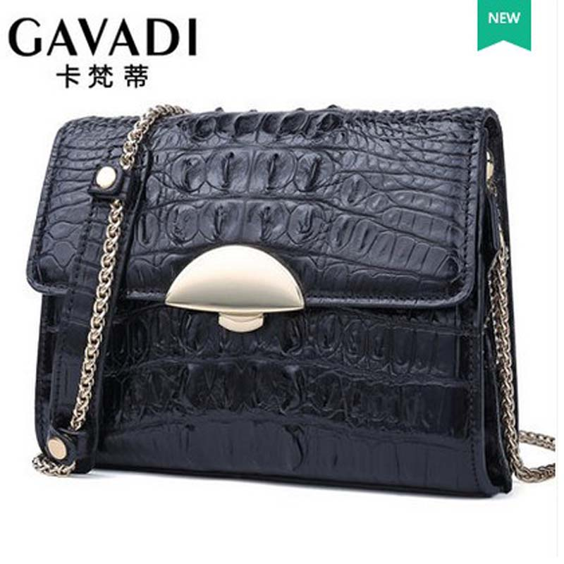 kafandi  woman new alligator skin woman single shoulder bag fashion chain women bag luxury small package women flap yuanyu real snake skin women bag new decorative pattern women chain bag fashion inclined single shoulder women bag