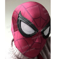 Movie Coser New Civil War Spiderman Mask With New Lens Tom Holland Spiderman Mask Spandex Lycra