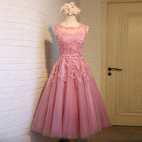 2016 Robe De Soiree New Wine Red Lace Embroidery Sleeveless A Line Evening Dresses Bride Banquet
