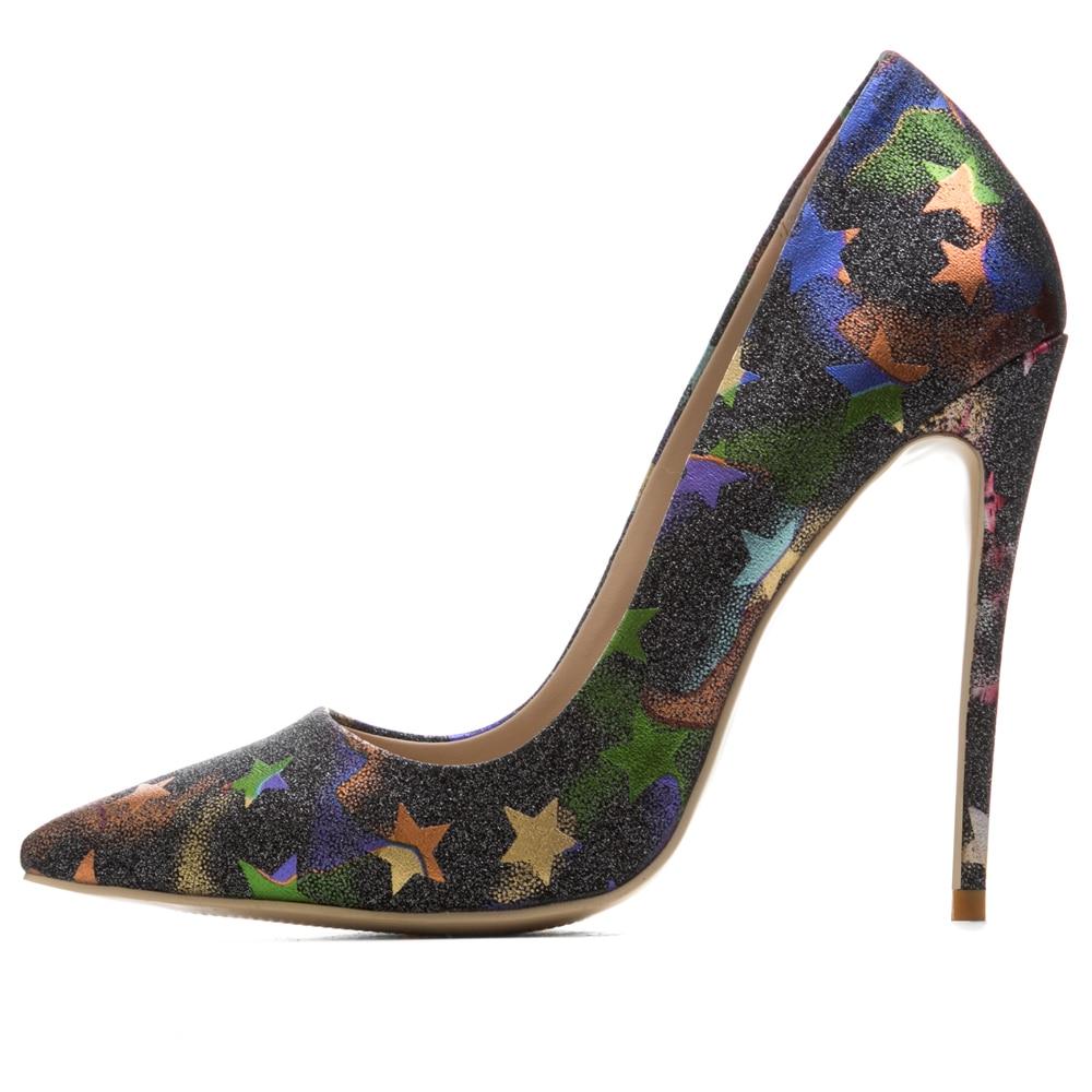 Taille La Stilettos Printemps Étoiles 12 2 green Chaussures Plus Femme Style Talons Hauts 1 gold Et Femmes Pompes blue Cm Nouveau Stiletto Blue Été Haut sliver tChQdsrx