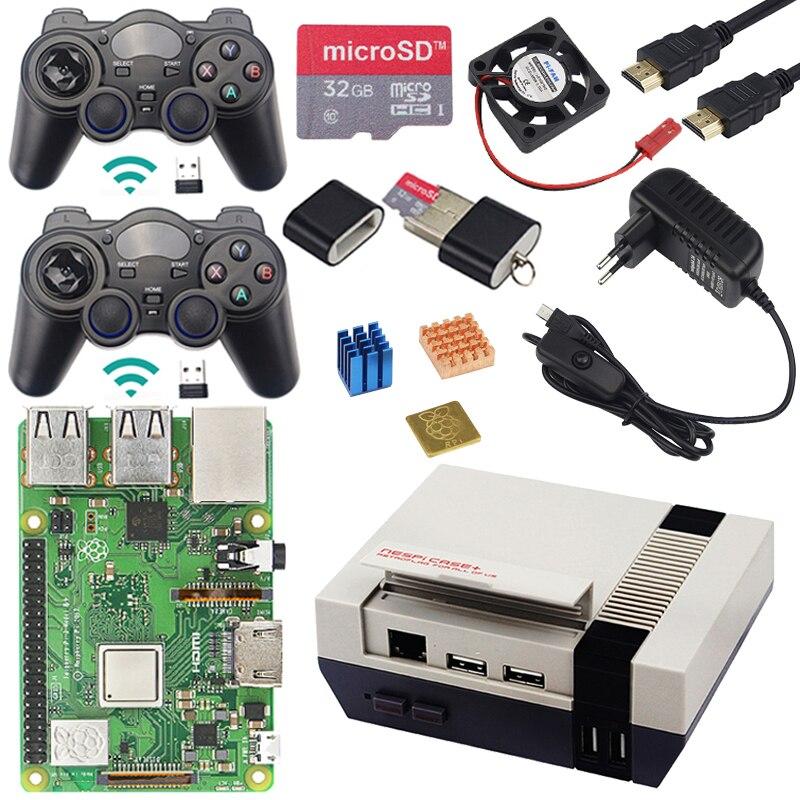 Raspberry Original Pi 3 modèle B + kit de jeu + boîtier + alimentation 1.4 GHz processeur quad-core 64 bits avec WiFi & Bluetooth pour Retrpie