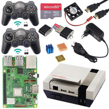 Asli Raspberry Pi 3 Model B + Game Kit + Tas + Power Supply 1.4 GHz Quad-Core 64 bit Prosesor dengan WIFI & Bluetooth untuk Retrpie(China)