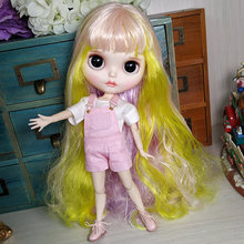 где купить Factory Blyth Doll BJD Combination Doll With Clothes And Shoes Long Curl Hair Body Joint Doll For Dressing DIY Hot Doll Toys по лучшей цене