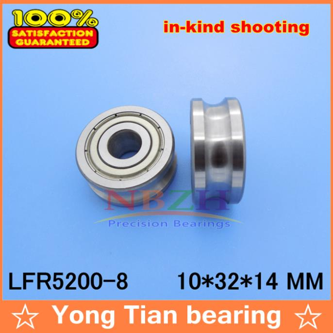 где купить 8 MM track LFR5200-8 NPP LFR5200 KDD R5200-8 2RS Groove Track Roller Bearings 10*32*14 mm (Precision double row balls) ABEC-5 по лучшей цене