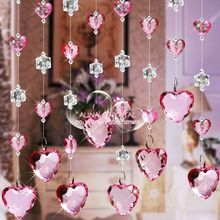 free shipping 1 1 5m W H Sparkling Acrylic Material Beaded Curtains Bright Fashion Shower Curtains