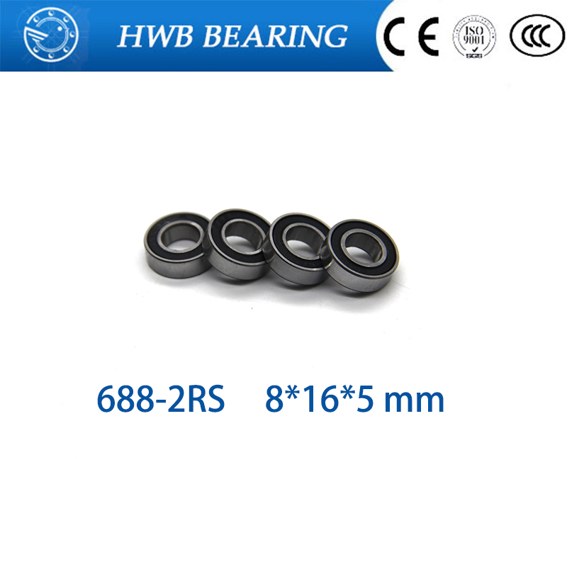 Skate board bearing 688 688-2RS 688-RS  L1680 8x16x5 mm 2016 new coming shoe bearing usded for toy/ machine dc men s council mid tx skate shoe