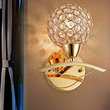 Simple Artistic Modern LED Wall Lamp Light Wall Sconces Arandelas Wandlamp With Golden Crystal simple artistic led crystal wall lamp light modern with 2 lights wall sconce arandelas wandlamp