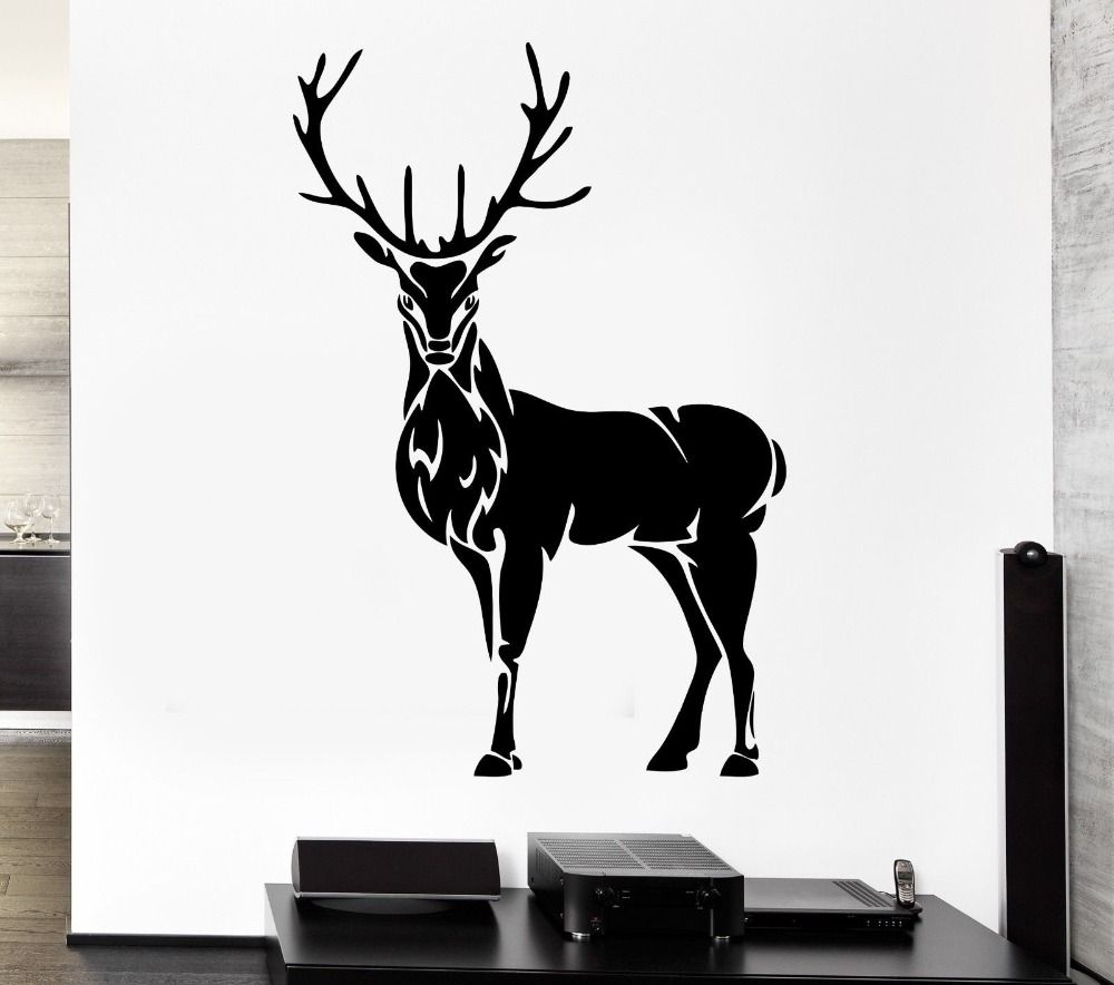 Compare prices on hunting wall murals online shopping buy for Deer mural decal