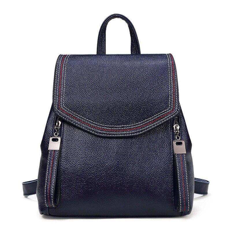 Nesitu высокое качество мода новый черный серый коричневый синий милый натуральная кожа маленький женский рюкзак девушка Женская дорожная сумка M191