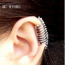 Bohomia Vintage Punk Style Skull Spine Earrings For Women No Pierced Ear Clip Bone Earrings Ear Cuff Trendy Classic Design trendy skull pattern and color block design satchel for women