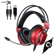 XIBERIA V10 Gaming Headset casque with Microphone Vibration Heavy Bass Stereo Game Headphone with LED Light for PC Computer PS4 недорого
