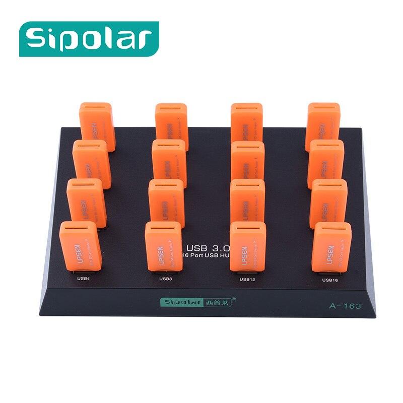 Sipolar 16 Multiples port usb 3.0 flash drive duplicateur hub lot copie pour HW 3G modems SD/TF lecteur de cartes U-Disque a-163