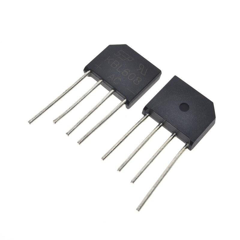 20PCS KBL608  KBL-608 6A 800V diode bridge rectifier20PCS KBL608  KBL-608 6A 800V diode bridge rectifier
