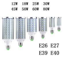 Lights Lighting - LED Lighting - E27 E26 E39 E40 LED Bulb Lamp 12W 18W 25W 30W 45W 50W 60W 80W 5730 SMD Cree chip Corn Light AC 110V 220V Cool Warm White Lampada