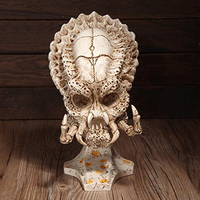 Modern Shaped Resin Skull Statue Animal Specimen Model Character Sculpture Warrior Figurine Home Decoration Art Movie Collection