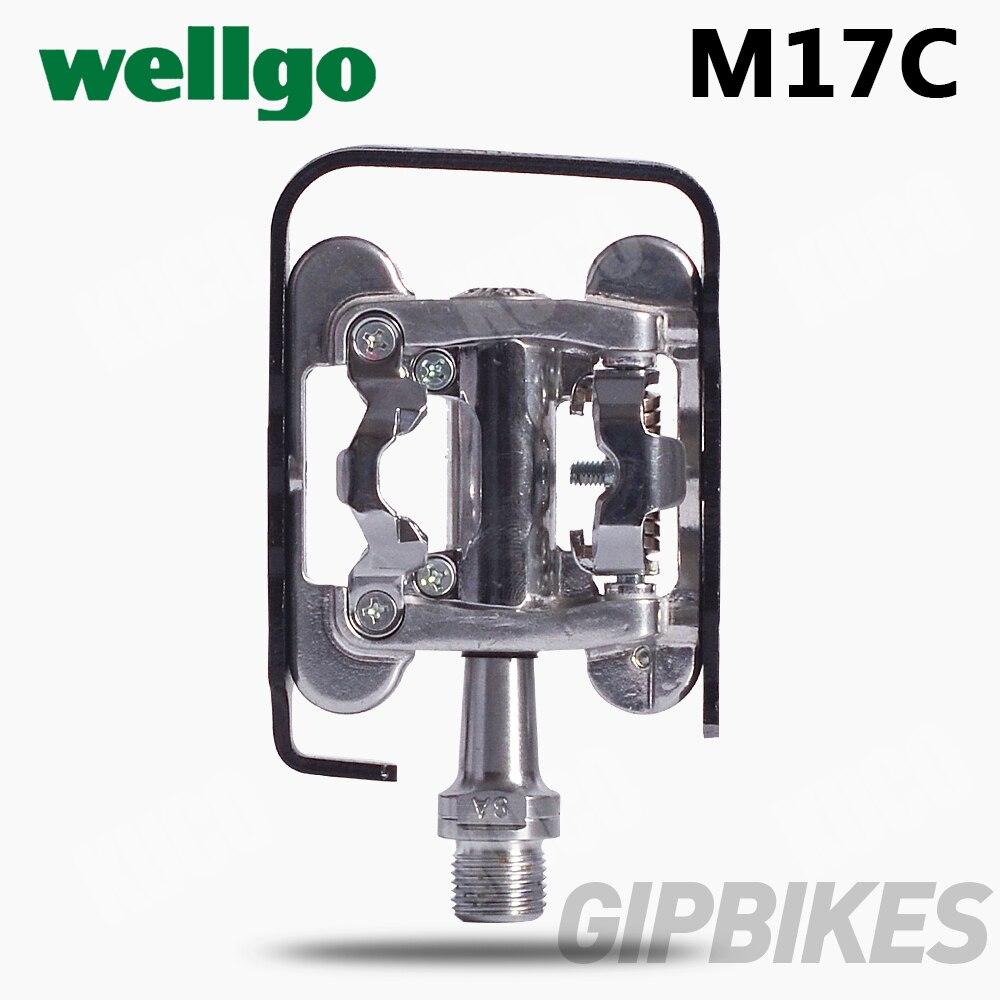 Wellgo pédale WPD M17C pédales de vélo VTT deux faces double usage serrure étape serrure pédale pièces de vélo