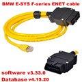 Высокое качество YDL v3.33.0 данных v4.15.20 кабель для bmw ENET Ethernet to OBD OBD2 Интерфейс E-SYS ICOM кабеля кодрирования для f-серия