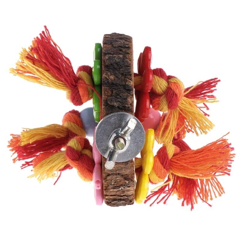 Попугай окунь дерева висит клетка стоять на платформе птица хомяк Круглый игрушки стойку укус