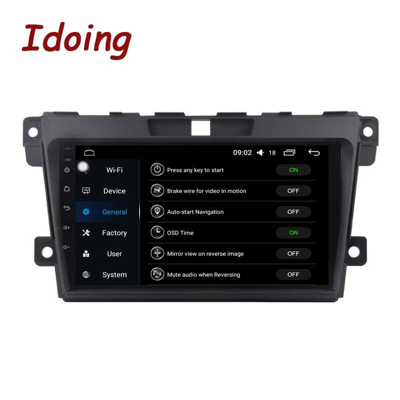 Lecteur multimédia vidéo Radio Android8.0 de voiture d'écran d'ido 1Din 2.5D IPS adapté à Mazda CX-7 CX 7 CX7 4G + 64G démarrage rapide de Navigation GPS