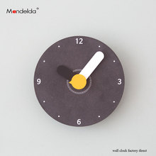 Customized Wall Clock Mandelda Colorful Cartoon Quartz Silent Watch DIY Large Modern Creative Circular Jarot MDF on