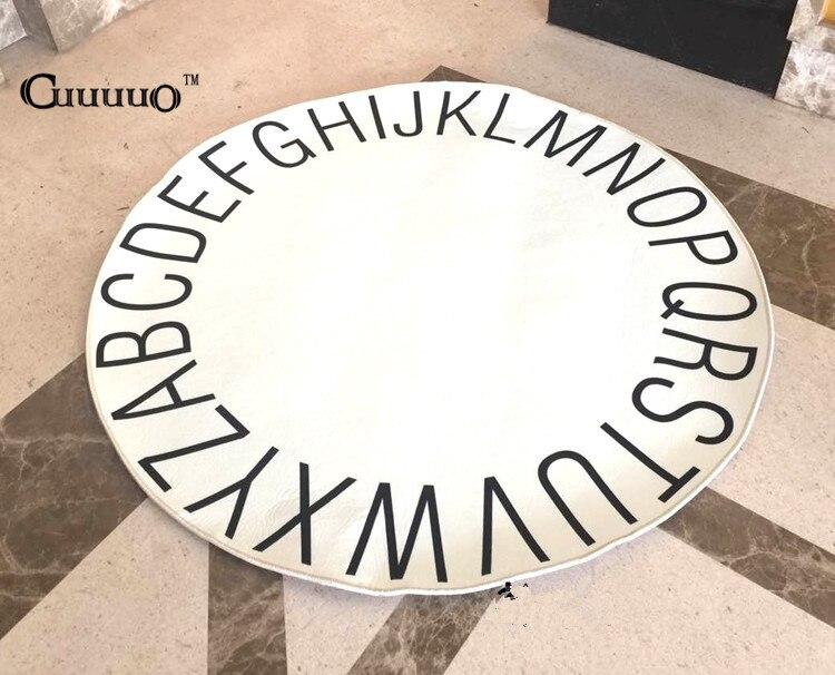 Bébé tapis de jeu couverture enfants lettre Alphabet ramper tapis cygne tapis de jeu tapis rond enfants chambre décoration INS Style chaud