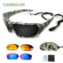 NEWBOLER — Lunettes de soleil polarisées à protection UV 400 pour hommes, pêche, camouflage, sport, soleil