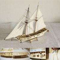 DIY 1:100ขนาดMiniaturaไม้เรือใบขนาดเล็กเรือชุดบ้านตกแต่งรูปแบบ