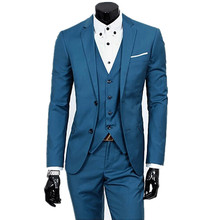 new 2018 Men's suits, High quality fashion men suits,  Custom make to order, custom(the coat + pants+ vest )