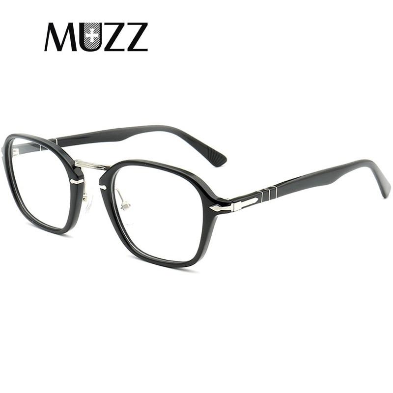 Acetate Glasses Frame Men Eyeglasses Frame Optical Glasses Frame Vintage Style Square Student Computer Goggles Frame Eyewear