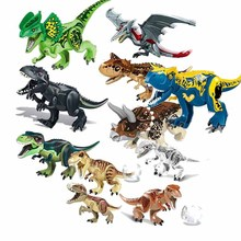 Jurassic World Dinosaurs Tyrannosaurus Rex Cornivorous beef Dragon Building Blocks Toys For Children Dinosaur цена в Москве и Питере