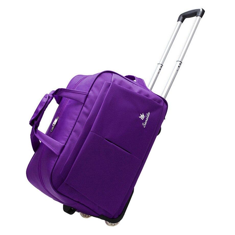 все цены на Wheel Luggage Trolley Bag Women Travel Bags Hand Trolley Unisex Bag Large Capacity Travel Bags Suitcase With Wheels