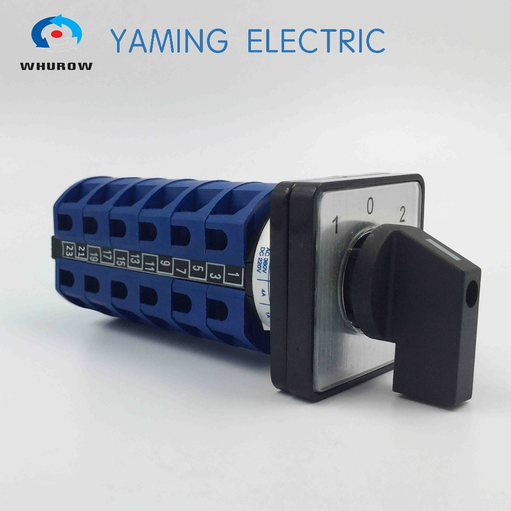 Free Shipping 1pcs Rotary Switch 3 Position 660V 20A 6 Phases 24 Terminals Electrical Changeover Cam