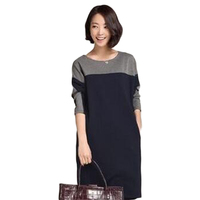 Autumn Harajuku New Brief Ladies Long Sleeve Big Size Casual Dresses With Pockets Feminine Short Dress
