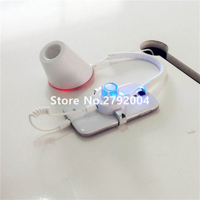 Mobile cell phone display security stand burglar alarm system samsung huawei anti-teft holder for retail exhibition with clamp