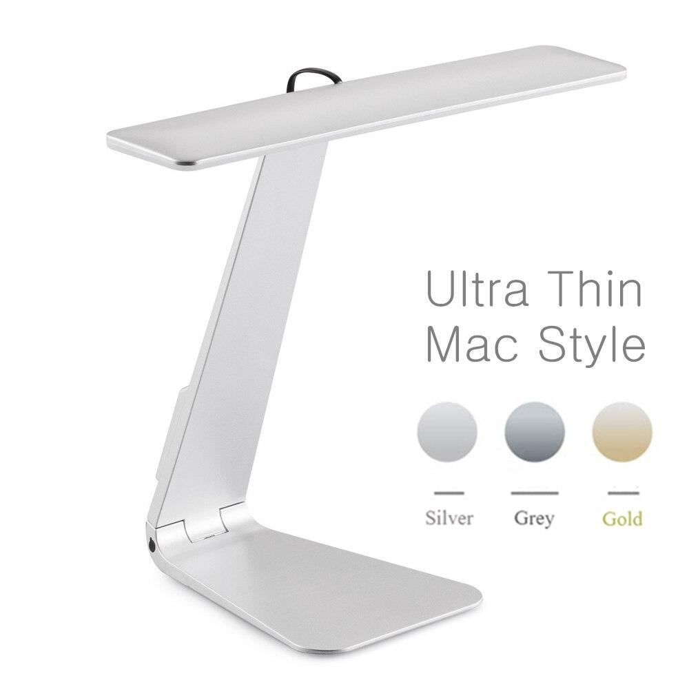 Ultrasottile Mac Stile 3 Modalità Dimming LED di Lettura Lampada Da Scrivania Studio Morbido Eye-Protezione Luce di Notte Pieghevole Da Tavolo Ricaricabile lampada