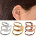 1 Pcs European and American retro style hollow U-shaped ear bone clip earrings invisible without pierced ears EAR-0600