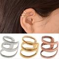 1 Pcs European and American retro style hollow U-shaped ear bone clip earrings invisible without pierced ears EAR-0600