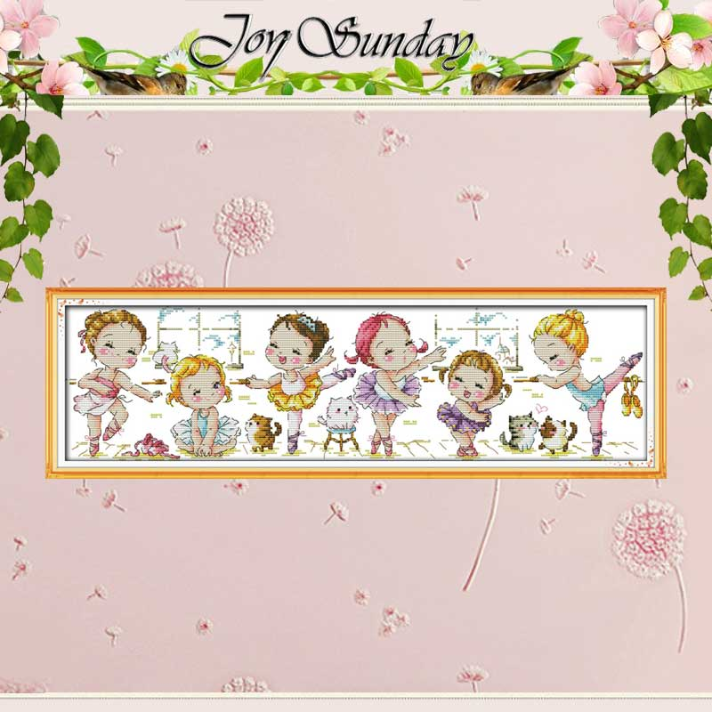 Een Ballet School Geteld Kruissteek 11CT 14CT Kruissteek cartoon Borduurpakketten Borduren voor Home Decor Handwerken
