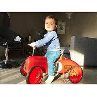 Новорожденный реквизит для фотосъемки мальчик INS классический металлический детские ходунки четырехколесный скутер детский студийный рек...