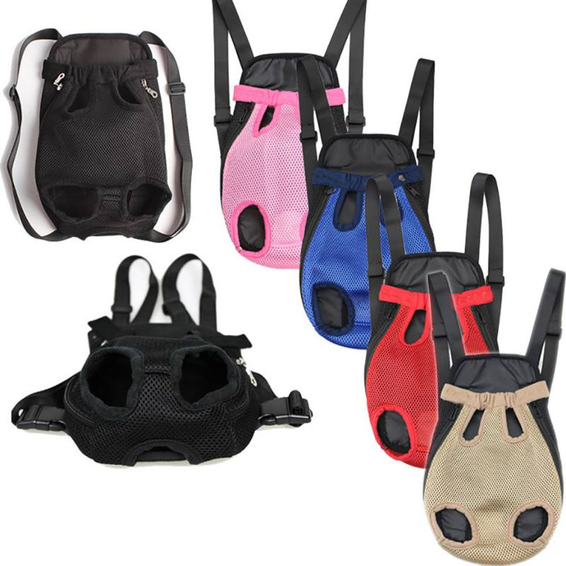 Cat Puppy Dog Travel Supplies Pet Dog Carrier Front Chest Backpack Five Holes Backpack Sling Holder Mesh Outdoor Carrier Bag