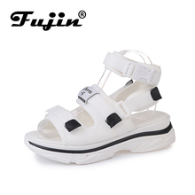 Fujin Brand 2019 Spring Summer and Autumn Slopes Open Toe Platform Shoes Women Sandals with Removable