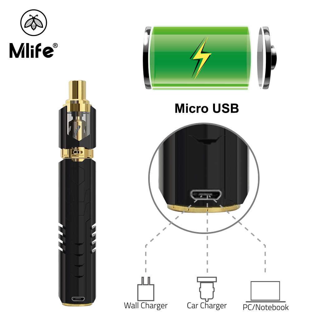 100% オリジナル Mlife S2 キットボックス Mod Cigarrillo Electronico 吸うペン vaper と 1.8 ミリリットル Atomiseur オイル吸うペン Vaperizer