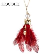цена на Rhinestone Long Feather Dress Doll Big Choker Necklaces&Pendants Handmade Paris Girl Long Chain Maxi Jewelry Collier Femme