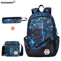 FENGDONG Fashion Backpacks Men USB Charge Designer Cool Youth Laptop Backbag Brand Solid Waterproof Male Backpack
