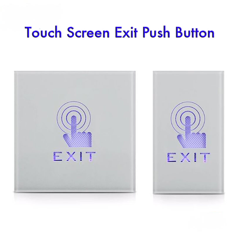 IP55 Waterproof Wall Mount Touch Sensor Switch Buttion With LED Work Well In The Dark NC NO COM For Door Access Control System
