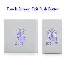 Interruptor impermeável buttion do sensor de toque da montagem da parede ip55 com trabalho conduzido bem no escuro nc nenhum com para o sistema de controle de acesso da porta