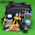 KELUSHI 24 pcs Kit de Fibra Óptica FTTH Ferramenta com FC-6S FIBER Cleaver e Power Meter Óptico 10 mW localizador Visual de Falhas localizador