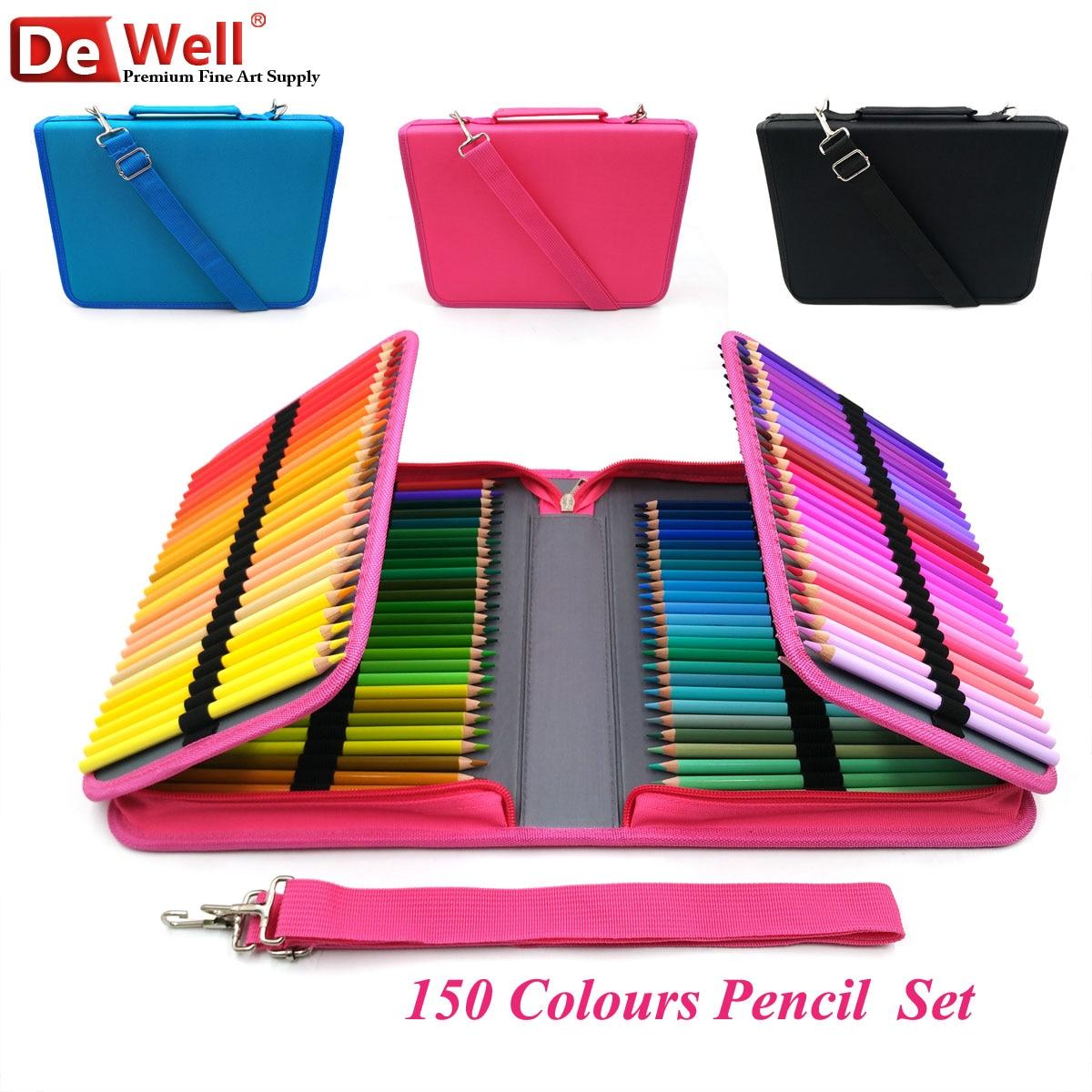 Artiste 150 couleurs crayons de couleur doux bois Lapis de cor 150 cœurs crayons de couleur ensemble pour peinture croquis fournitures d'art scolaire