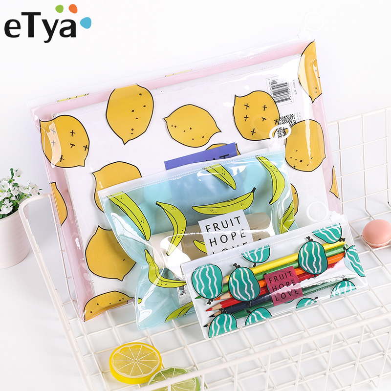 eTya Transparent PVC Travel Cosmetic Bag Women Multifunctional Makeup Bag Organizer Storage Pouch Toiletry Beauty Wash Kit Case multifunctional women makeup storage bag travel pouch hanging toiletry organizer